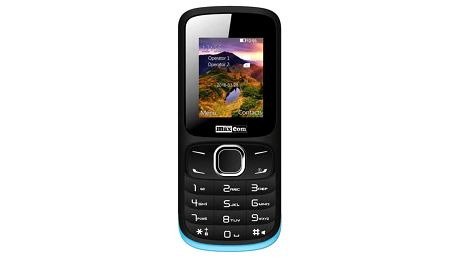 Mobilní telefon MaxCom Classic MM128 Dual SIM (MM128BK/BLDS) černý/modrý