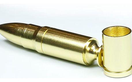 Přenosná kovová dýmka ve tvaru kulky