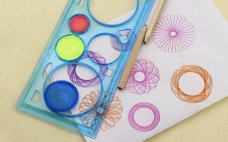 Spirograf a šablony na kreslení různých obrazců - 3 kusy