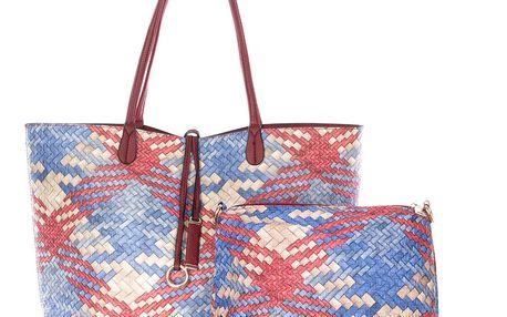 Fashion Icon Dámská kabelka Simple Style 2v1 červená