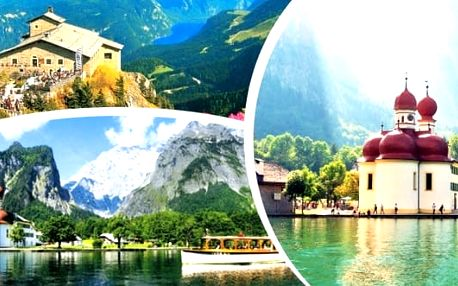 Orlí hnízdo a jezero Konigsee v Německu - jednodenní zájezd pro 1 osobu do Hitlerovy pevnosti Orlí hnízdo a k jezeru Konigsee. Závěr završíte vyhlídkovou plavbou k ostrůvku St. Bartholomä. Užijte si svěží alpský vzduch, dechberoucí krajinu a tajemně průzr
