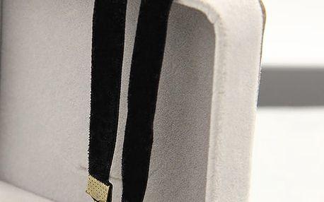 Semišový choker náhrdelník se zapínáním - dodání do 2 dnů