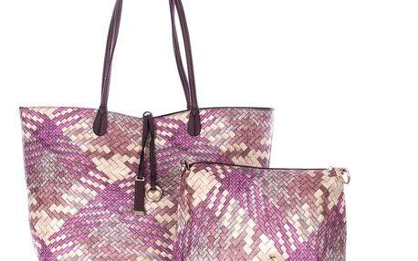 Fashion Icon Dámská kabelka Simple Style 2v1 přes rameno fialová