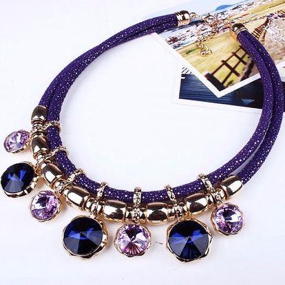 Výrazný náhrdelník ve 4 barvách