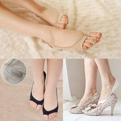 Neviditelné ponožky do otevřených bot