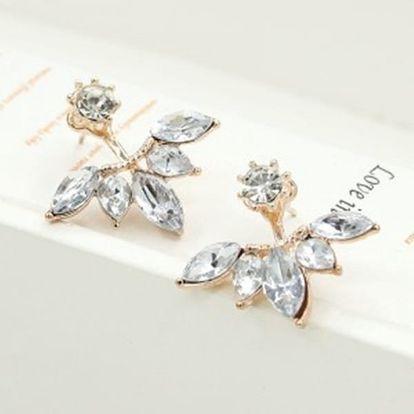 Elegantní dámské náušnice s ozdobnými krystalky - dodání do 2 dnů