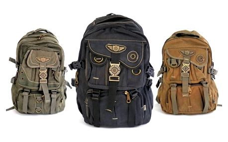 Stylový cestovatelský batoh z odolného materiálu ve 3 různých barvách