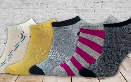 4 páry dámských bavlněných kotníkových ponožek