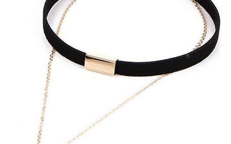 Choker náhrdelník s řetízkem - 2 barvy