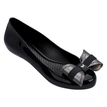 Zaxy černé baleríny Pop Charm Fem Black/Silver - 40