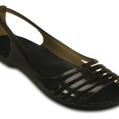Crocs černé sandály Isabella Huarache Flat Black - W8