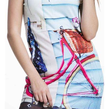 Culito from Spain barevné šaty Bici Rosa - L