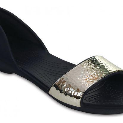 Crocs modré sandály Lina Embellished Dorsay Navy/Silver - W9