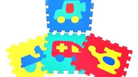 WIKY Pěnové puzzle Dopravní prostředky 10 ks