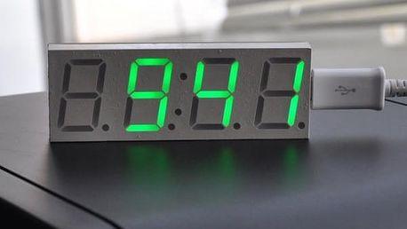 Jednoduché digitální hodiny se zobrazením v zelené barvě - 3 ks