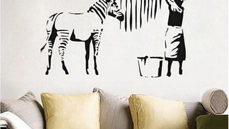 Samolepka na zeď Banksy - Zebří pruhy