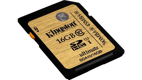 Kingston SDHC Ultimate 16GB Class 10 UHS-I - SDA10/16GB