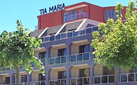 Hotel Tia Maria, Bulharsko, Černomořské pobřeží, 8 dní, Letecky, All inclusive, ★★★, sleva 23 %, bonus (Levné parkování u letiště: 8 dní 499,- | 12 dní 749,- | 16 dní 899,- , 500 Kč na plavky)