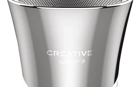 Creative WOOF3, přenosný, stříbrná - 51MF8230AA000