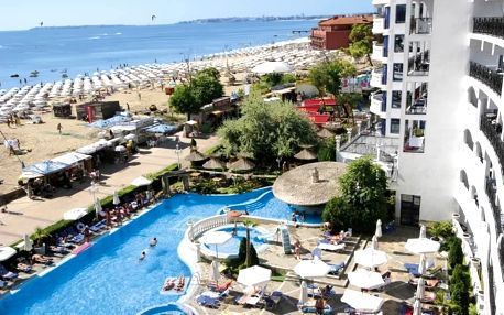Hotel Chaika Resort, Bulharsko, Černomořské pobřeží, 8 dní, Letecká, Polopenze, ★★★, sleva 21 %, bonus (Levné parkování u letiště: 8 dní 499,- | 12 dní 749,- | 16 dní 899,- )