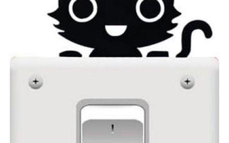Samolepka nad vypínač - kočička - dodání do 2 dnů