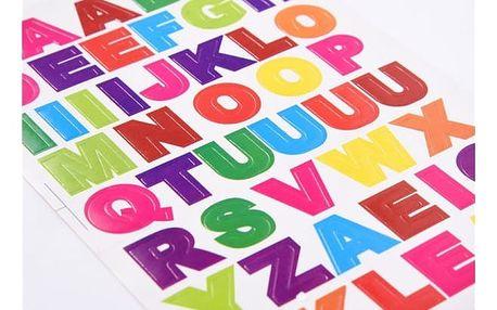 Samolepky ve tvaru písmen - 10 listů/balení