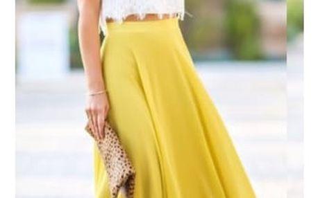 Dlouhá vzdušná sukně do pasu - 6 barev
