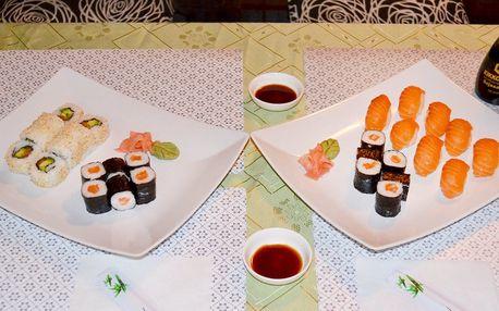 28 či 30 kousků sushi s rybou nebo bez masa