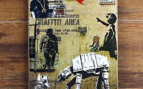 Plechová cedule 20x30 cm - Graffity Banksy