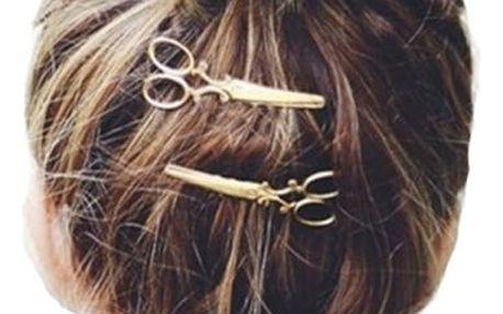 Sponka do vlasů s motivem nůžek - dodání do 2 dnů