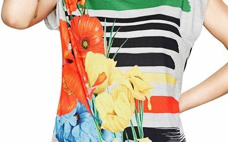Desigual barevné tričko Sarita - XL