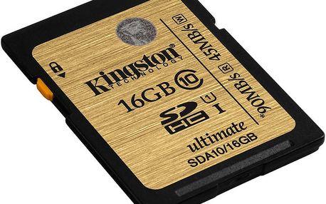 Kingston SDHC Ultimate 16GB Class 10 UHS-I - SDA10/16GB