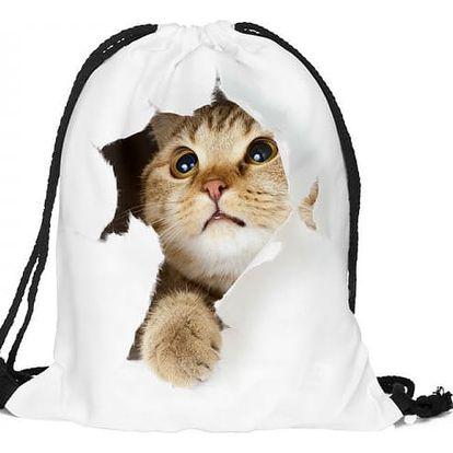 Vak na záda s nápaditým motivem koček - dodání do 2 dnů