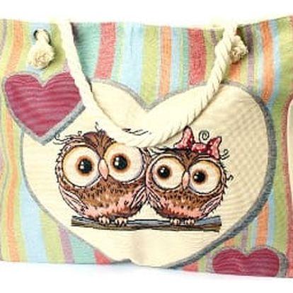 Velká dámská plážová taška OWL