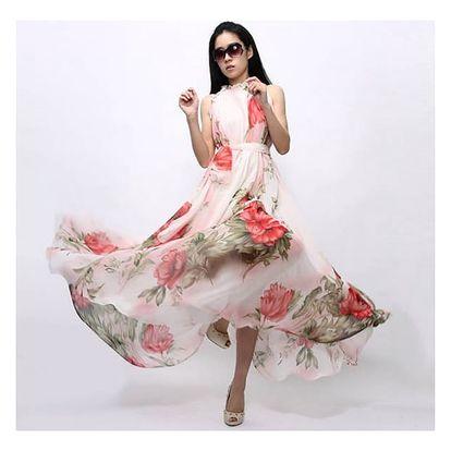 Květované dlouhé šaty na léto