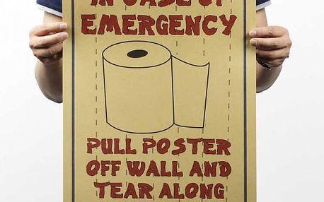 Papírový plakát nejvyšší potřeby
