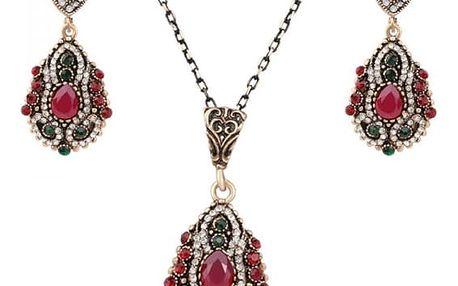 Set vintage náhrdelníku a náušnic