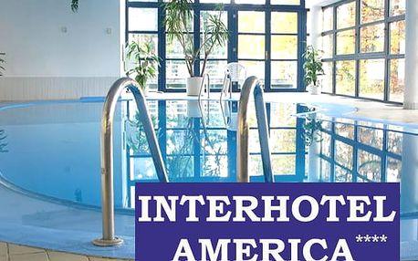 Wellness pobyt pro dva v Interhotelu America, bazén s protiproudem, sauna a fitness aj.