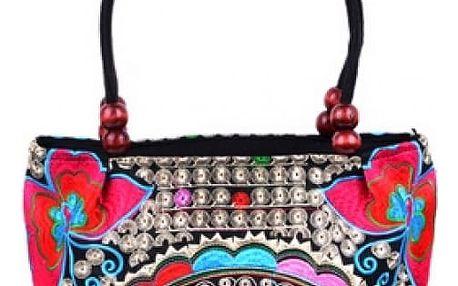 Krásná vyšívaná kabelka s květinami v japonském stylu - 31 variant