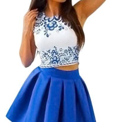Minišaty na léto s širokou sukní - 2 varianty