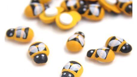 Dřevěné dekorativní mini včeličky - 100 kusů