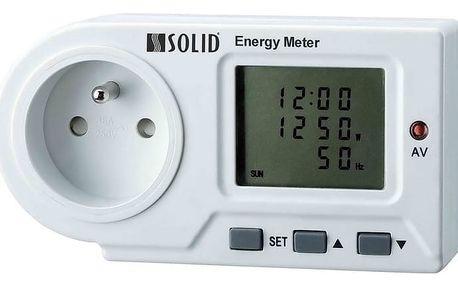 Solight DT22 měřič spotřeby el. energie, LED indikace - 8595092129286