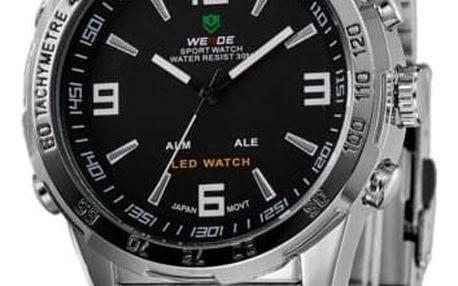 Pánské hodinky ve stříbrné barvě