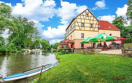 3–6denní pobyt pro 2 osoby se snídaní v penzionu Černý mlýn u břehu řeky Ohře