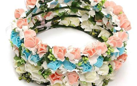 Květinová čelenka nejen pro nevěsty