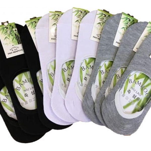 Ponožky do balerín - tři páry
