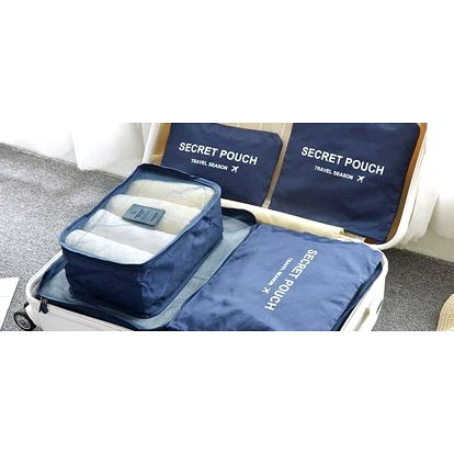 Set cestovních organizérů do kufru
