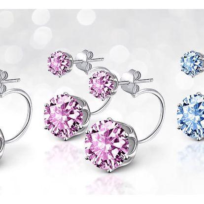 Náušnice s krystaly Swarovski Elements