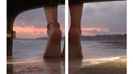 Sada obrazů 2ks, motiv: nohy na pláži