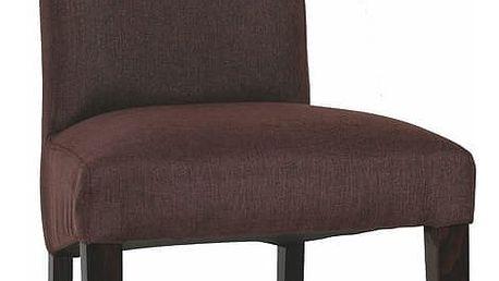 Jídelní čalouněná židle ADRIA hnědá látka